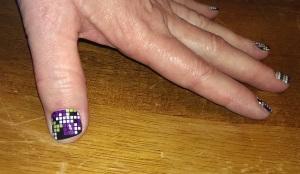 Tetris nails - 1