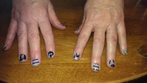 Tetris nails - 2